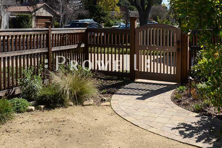 Site photo showing wood garden gates #88-3 in Los Altos, California