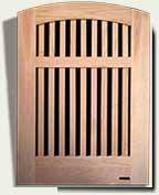 Open Grid Wood Garden Gate #88