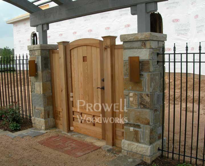 site photograph showing wood gate door #89-2 in Houston, Texas