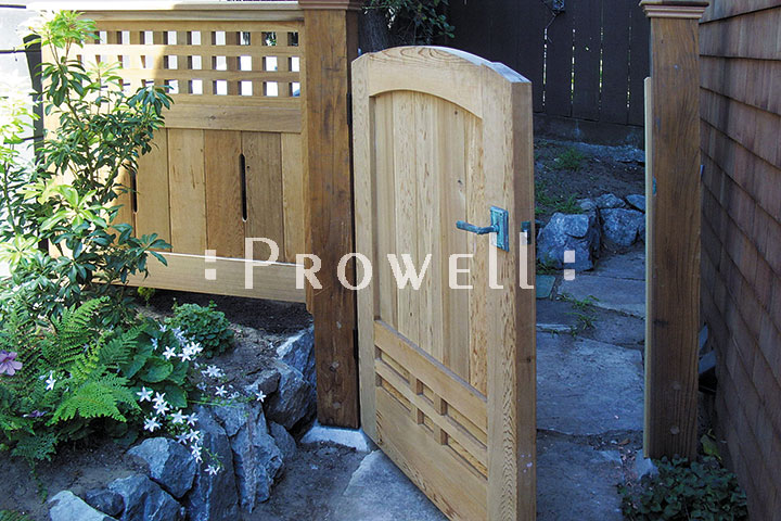 site photograpoh showing wood privacy fence gate #89-5 in San Francisco, California