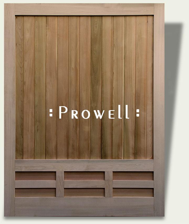custom wood fence panel