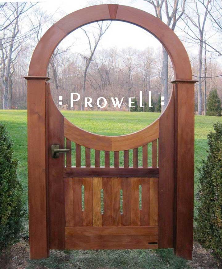 wood arched garden gate #8-3 in Washington DC Beltway