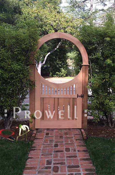 curved top garden gate #8-6 in Silicone Valley, California