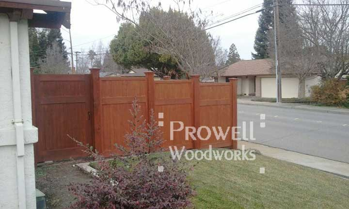 site photograph showing solid wood gates 91 in walnut creek, ca