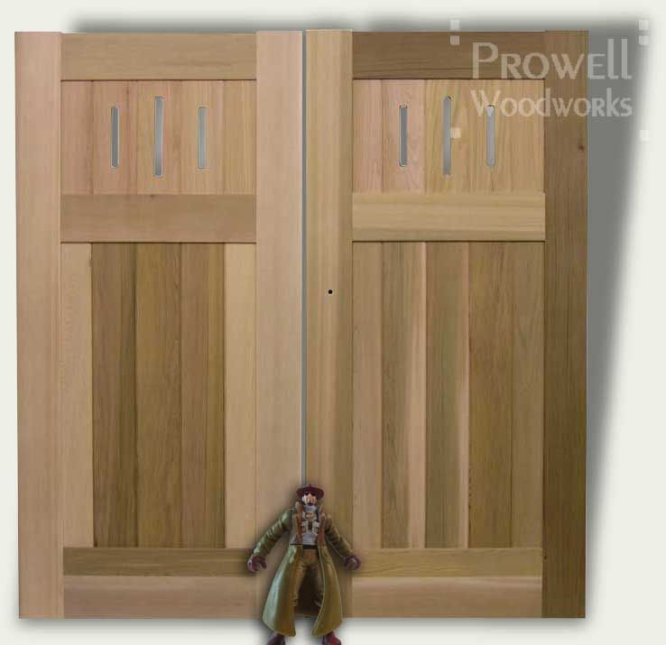 Cropped photo showing the solid wood gate #91 as double gates