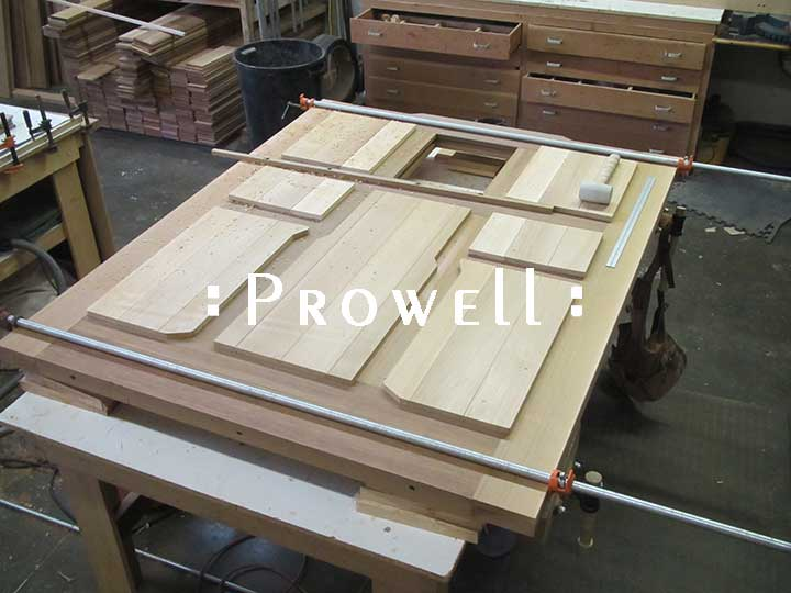 shop photo showing the arts and crafts gate design #92 ready for assembly