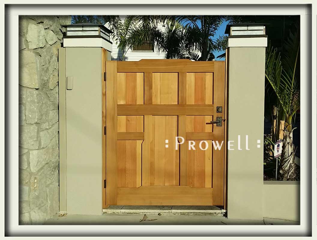 Site photograph showing craftsman garden gate #92 in St Petersburg, Florida