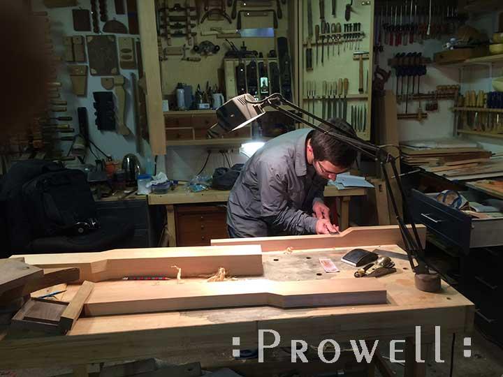 shop photograph showing ben prowell building wood gate #92