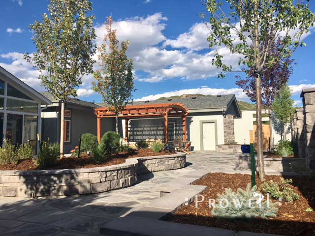 site photograph showing the courtyard with craftsman wood gate #92-3 in Colorado