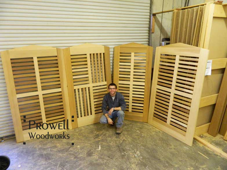 photograpg in the woodworking shop with Ben and four gate design #99