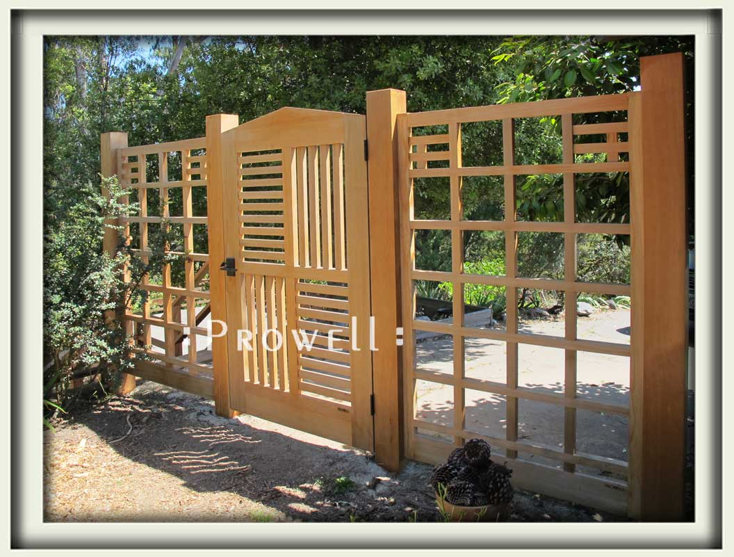 site photograph showing another view of gate #95-1 and fence #19 as a deer-proof fence in San Francisco bay area