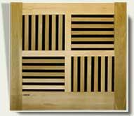 Open Grid Wood Garden Gate #95