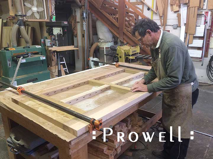 shop photograph showing how to build the joinery for a gate #95