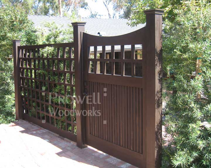 site photograph showing arched wooden gate #96-3 in Seattle, washington