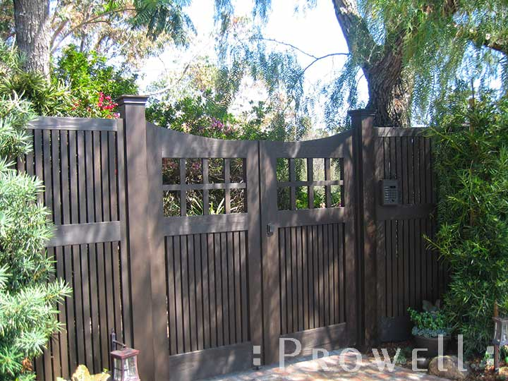 on-site Photo showing double wooden gates #96-3 and fence panel #19 in Seattle, Washington