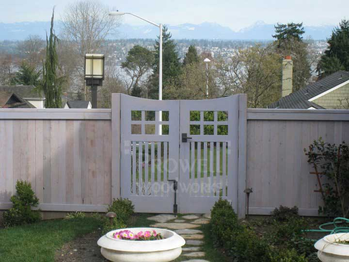 site photo showing the arched double gates #96.4 in Seattle, Washington
