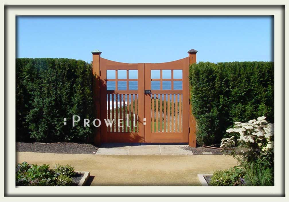 site photograph showing double gate #96 in Mendocino, california