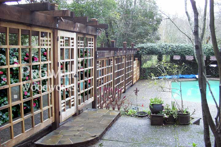 site photograph showing the pool gates and wood fence #19 in Marin County, California