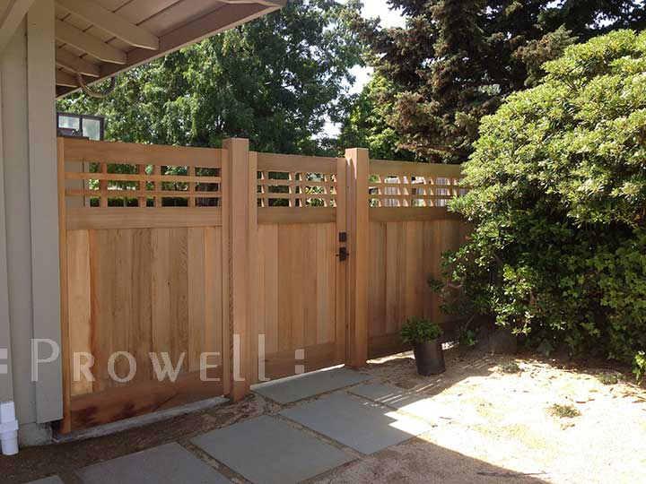 Showing the side entrance for the wood gate #98-3 in Marin County, CA