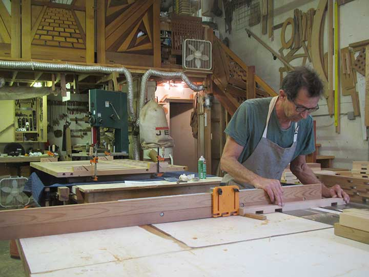 shop photo showing how to build the gate #98 in the prowell woodshop