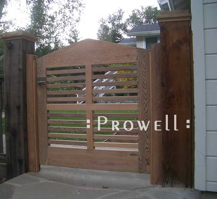 site photo showing the original wood gate design #99 in marin county, california
