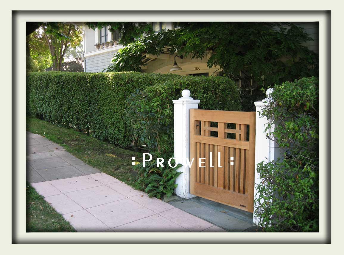 custom craftsman wood gate 9-1 in Oakland, California
