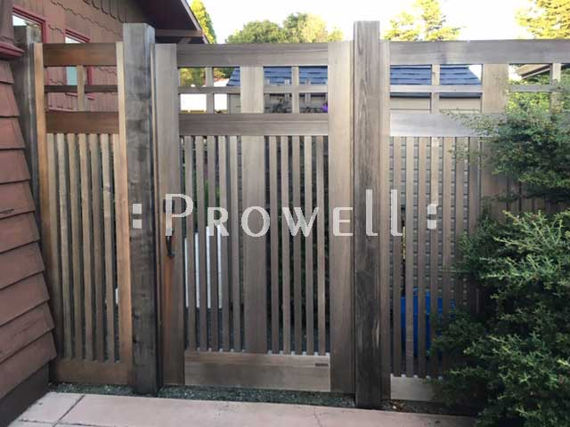arts and crafts wood gate in Berkeley, CA. prowell