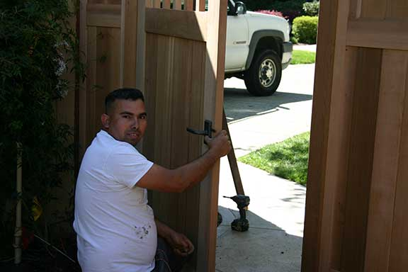 image showing gate #20-12 being installed in California