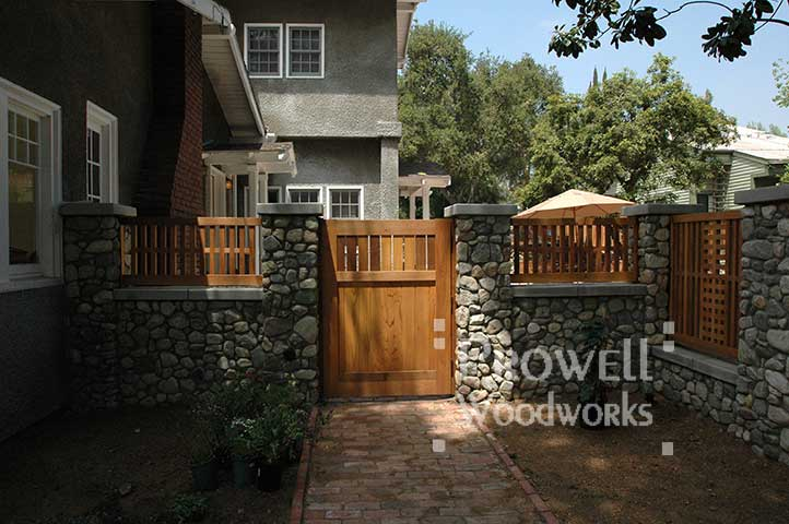 custom wood wall-top fence panels #2 in Los Angeles