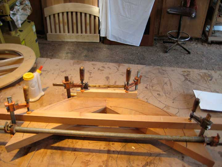 photograph showing how to create wood ovals in the wood shop.