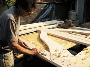 designer wood gates