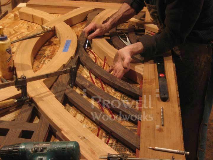 photograph showing futuristic wood gate #200 in-progress