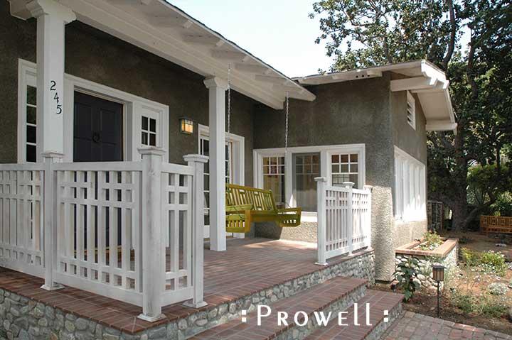 custom wood porch railing panel #3 in southern California