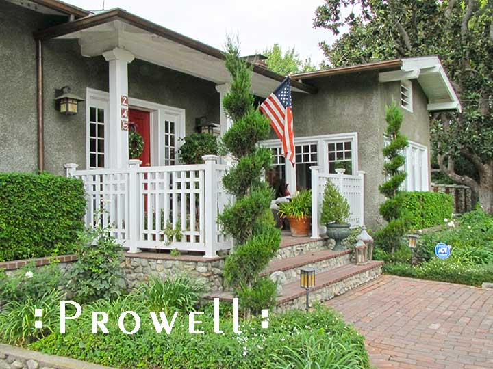 Arts and Crafts wood porch railing panels #3 in Claremont, CA