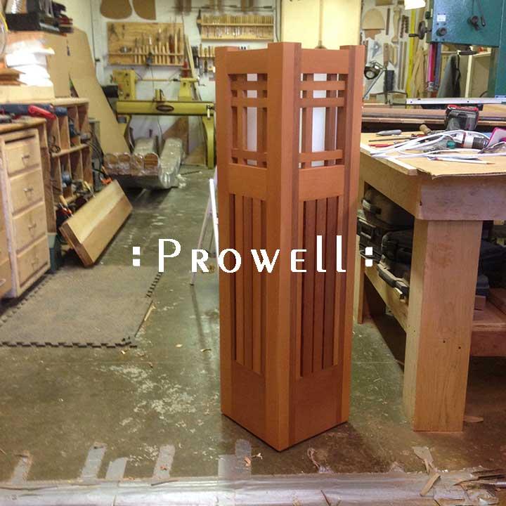 landscape wood lighting columns. prowell