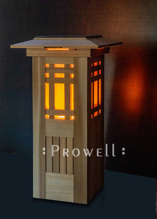 Lighhted wood columns in Seattle. Prowell