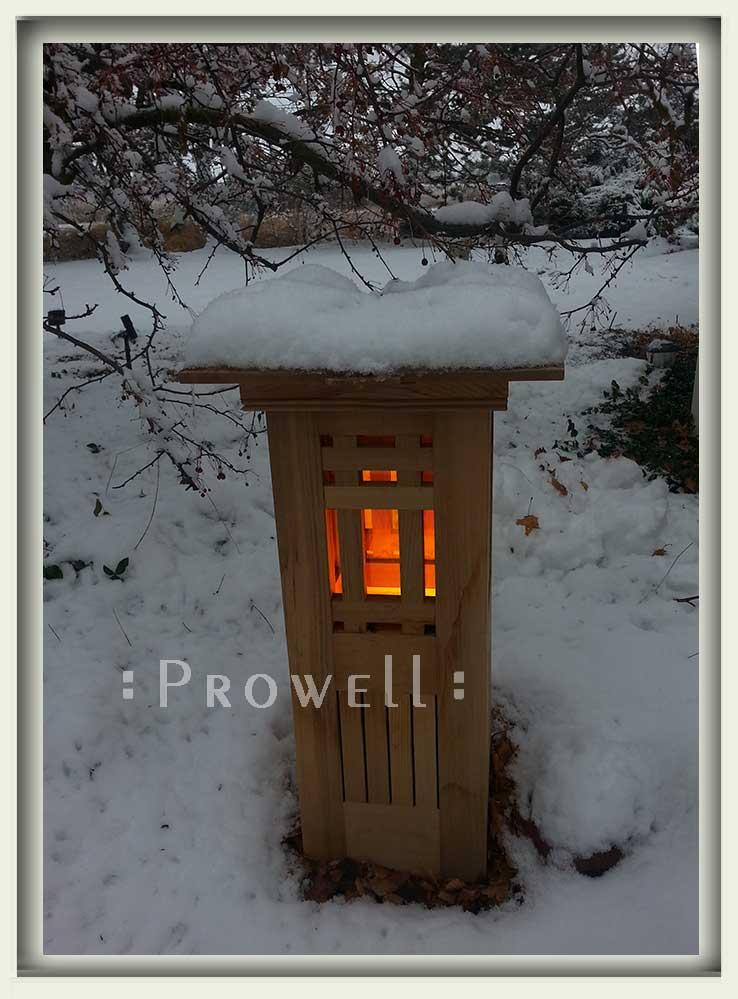 custom wood lighted garden column #8-2 in Washington