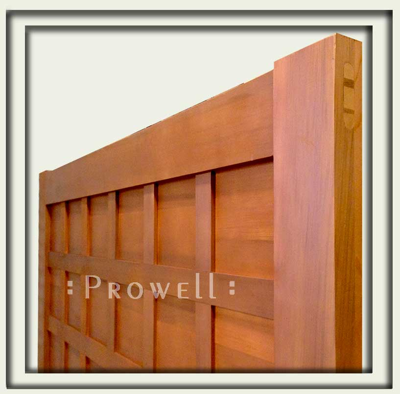 Woodworking joinery for wood gates, from Prowell