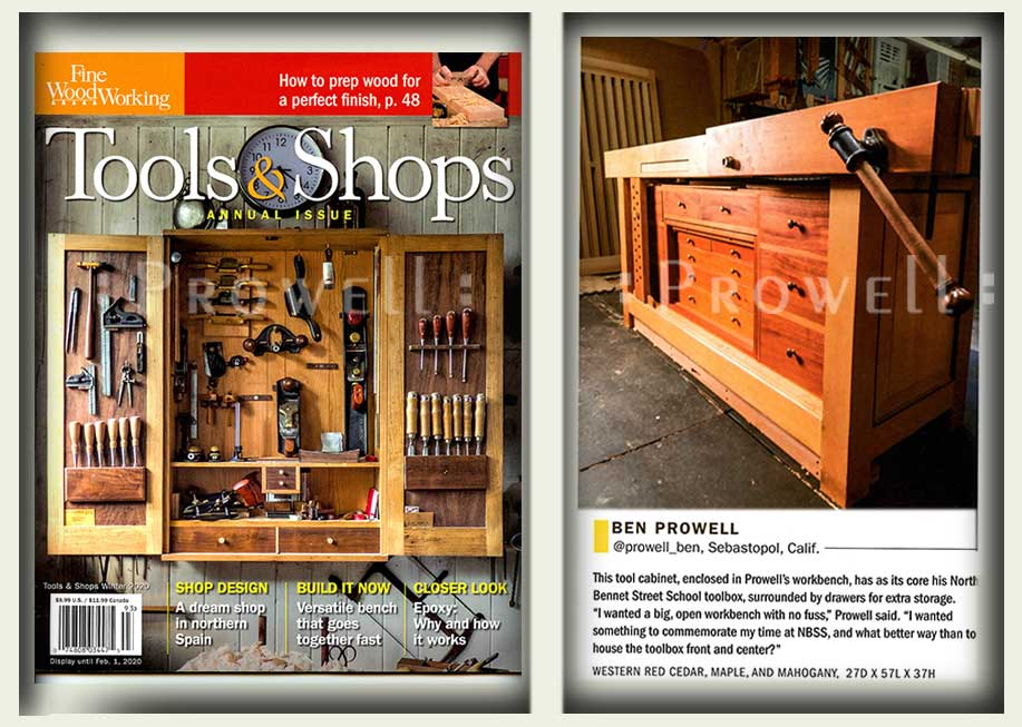 Fine Woodworking Tools and Shops 2019. Ben Prowell