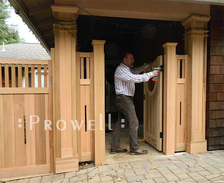 brian van rheenan installing wood gate