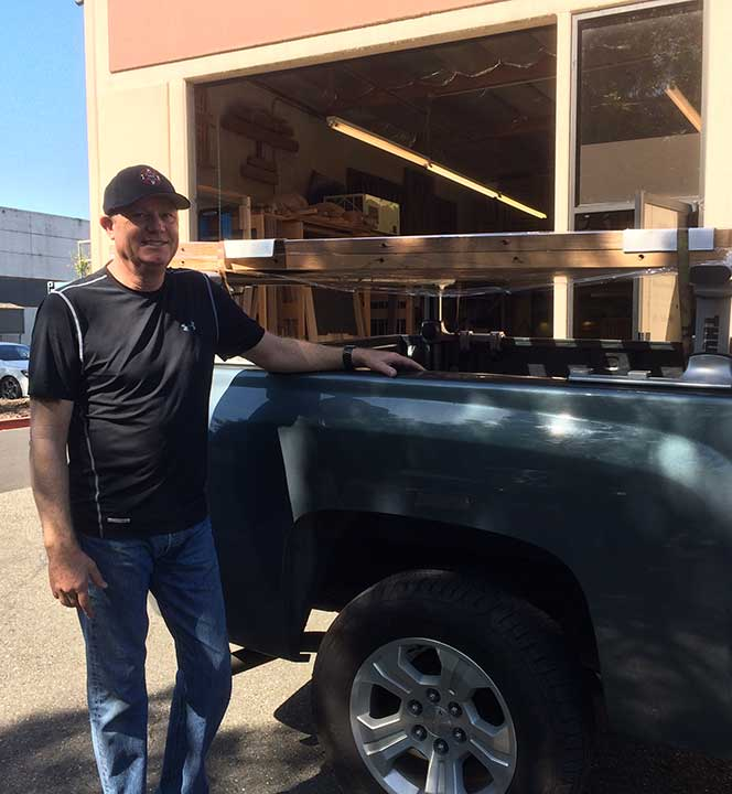 Chuck Gantt manages our bay area deliveries