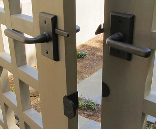 double gate latches and stops