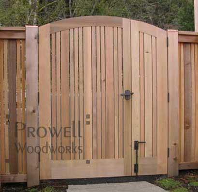 double wood gates
