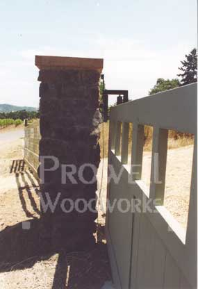 wood driveway gates with steel frames