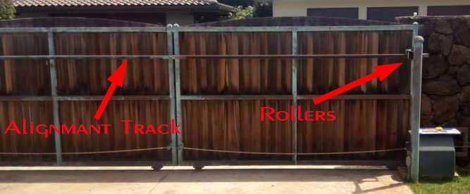 wood driveway gates with steel