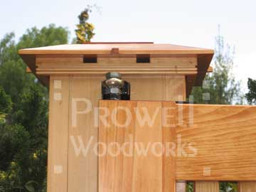 wood garden column hinge