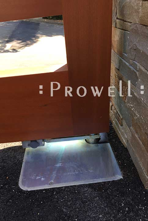 Installing In-Ground Motors for wood drive gates, prowell