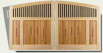 link to Arched driveway gates design #14