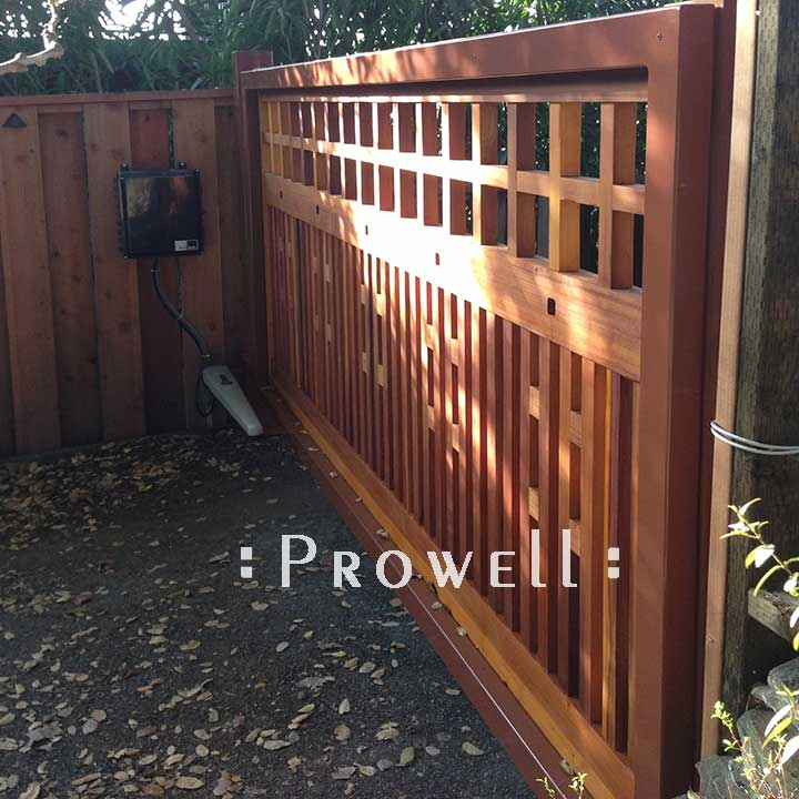 Single-Span Wood Driveway Gate with Steel Frame, Prowell