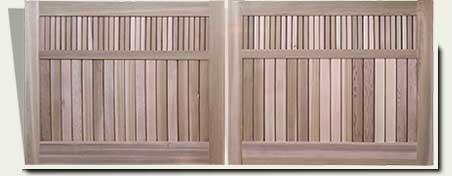 Custom Wood Driveway Gates #25